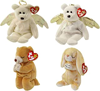 TY Beanie Babies - ANGELS & PRAYING (Set of 4) (Halo, Halo 2, Grace & Hope) (5.5-8.5 in)
