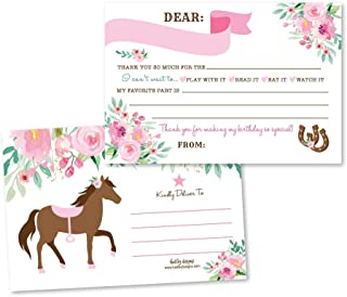 25 Western Kentucky Derby Pony Fill In The Blank Kids Thank You Cards, Horse Farm Barnyard Themed Bday Party Notes, My Little Carousel Race Adult or Children Birthday Ideas, Cowboy Cowgirl Supplies