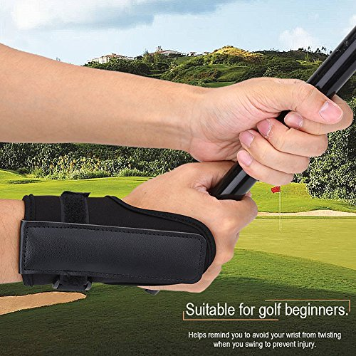 Golf Swing Training Aid, Black Golf Wrist Brace Band Glove Golf Swing Train Aids Set Tactic Straight Practice Wrist Brace Trainer Golf Glove Trainer Corrector Golf Accessory