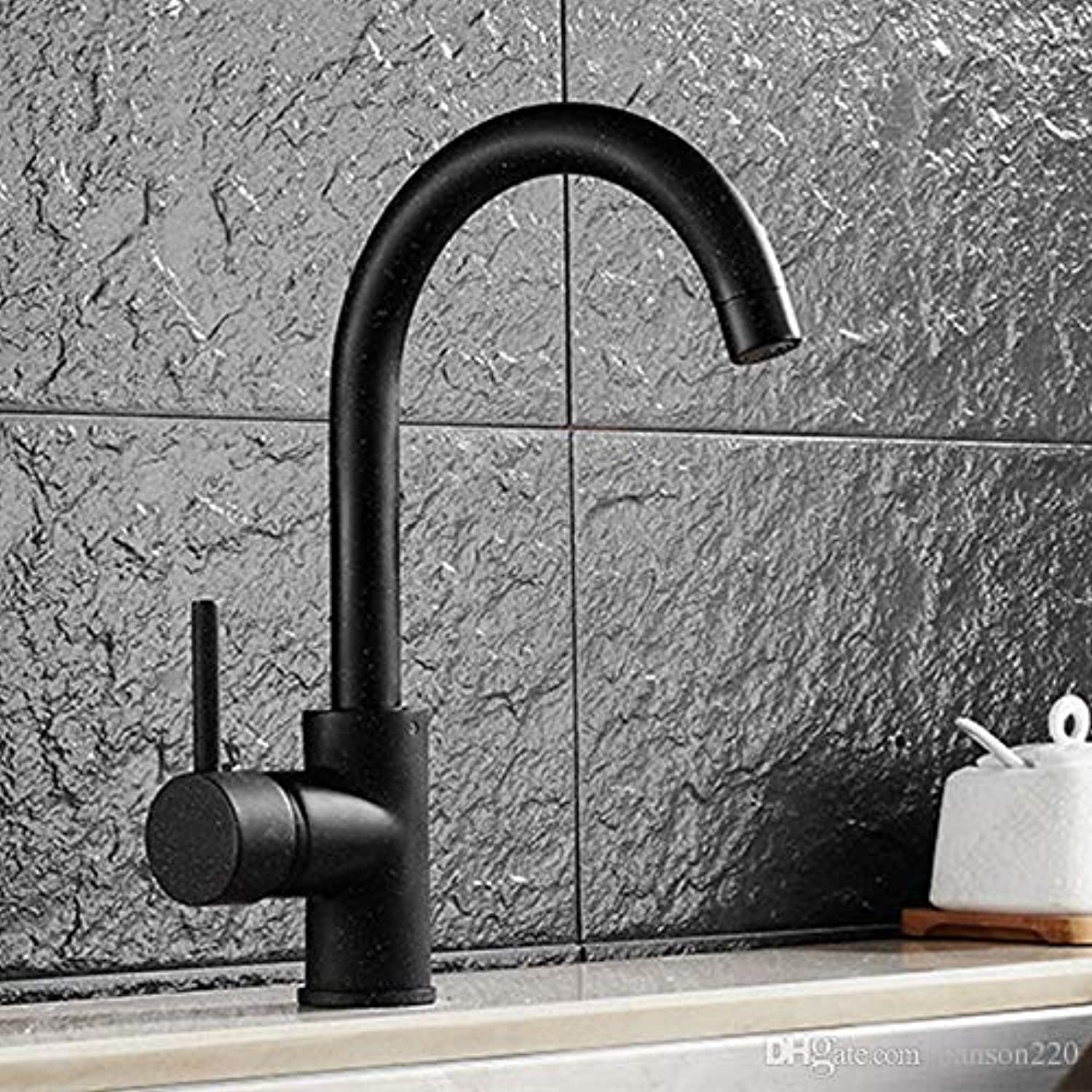 Decorry Luxury Oil Rubbed Sink Faucet with Deck Mounted Kitchen Faucet Made of Solid Brass Sink Faucet