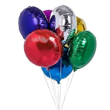 "50pcs/lot Round Shape Foil Mylar Helium Balloon 18"" Balloon Birthday Party Decoration Foil Balloons"