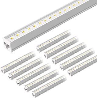 Barrina LED Garage Lights, T5 LED Shop Light, Clear Cover, 20W 2700LM 5000K 4FT(27000lm Total), Triple Glow Light, Garage Lighting Fixture Ceiling, Integrated Shop Light Fixture for Garage, 10-Pack