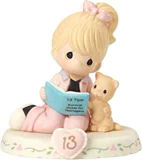 Precious Moments 162012 Growing In Grace, Age 13, Bisque Porcelain Figurine, Blonde Girl