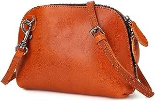 Manual Multi-Functional Small Shoulder Bag Head Layer Cowhide Fashion Casual Retro Shell Bag