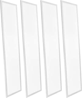 4-Pack 1x4 FT LED Panel Light, Luxrite, 45W, 3500K Natural White, 4725 Lumens, 0-10V Dimmable, 12x48 Inch LED Drop Ceiling Light, UL Listed and DLC Listed