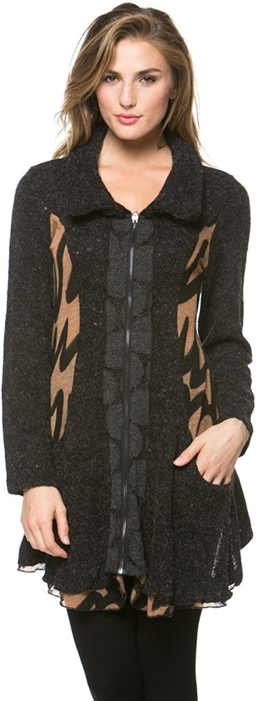 High Secret Women's Multifabric Zipup Cardigan
