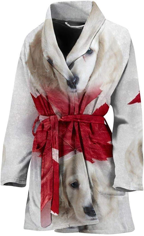 Deruj Dachshund On White Print Women's Bath Robe