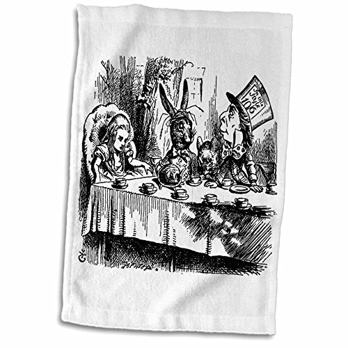 3D Rose Mad Hatter Tea Party Illustration by John Tenniel. Alice in Wonderland TWL_193788_1 Towel, 15' x 22', Multicolor