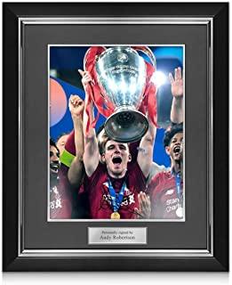 Andrew Robertson Signed Liverpool Photo: 2019 Champions League Winner Deluxe Frame | Autographed Memorabilia