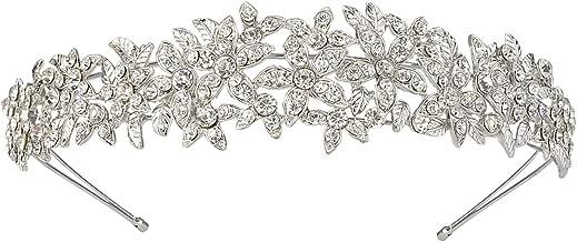 EVER FAITH Women's Austrian Crystal Wedding Flower Cluster Hair Band Clear