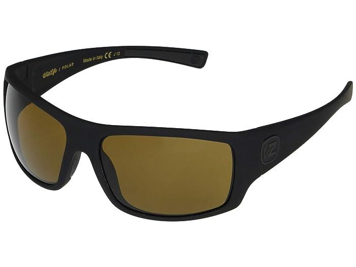 VonZipper  Suplex (Black Satin Soft Touch Wildlife Bronze Polarized) Fashion Sunglasses