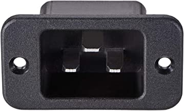 uxcell C20 Panel Mount Plug Adapter AC 250V 16A 3 Pins IEC Inlet Module Plug Power Connector Socket Staight