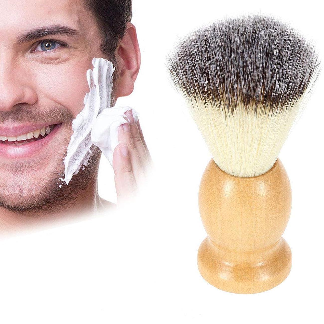 リア王浴室承認するButokal ナイロンひげブラシ メンズ用ブラシ 木製ハンドルシェービングブラシ 泡立ち ひげブラシ 理容 洗顔 髭剃り ご主人 ボーイフレンド 友人 にプレゼント シェービング用アクセサリー