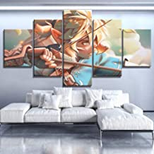 KJWLHXD Wall Art Module Hd Print Canvas Picture Home Decoration 5 Canvas Painting Zelda Legend Painting Game Poster Living Room Frame-10X15 10X20 10X25Cm