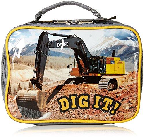 John Deere Boys' Lunchbox, Grey, One Size