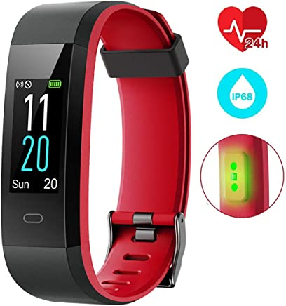 EUMI Montre Connectée, Fitness Tracker Imperméable IP68 Natation Poignet Cardiofréquencemètre avec 14 Modes de Formation