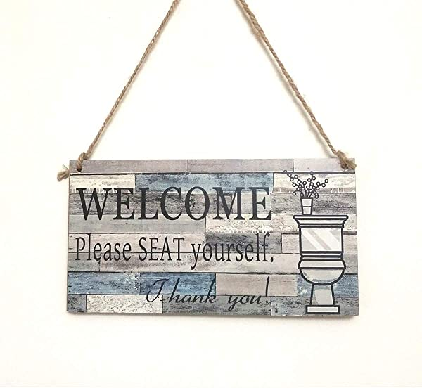AceAcr Arts Printed Wood Wall Hanging Plaque Sign Welcome Sign Please Seat Yourself Wall Art Sign
