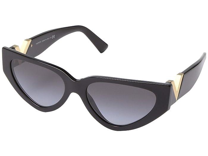 Valentino 0VA4063 (Black/Gold) Fashion Sunglasses