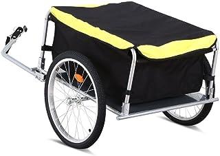 Yaheetech Garden Bike Bicycle Cargo Luggage Trailer-Yellow/Black