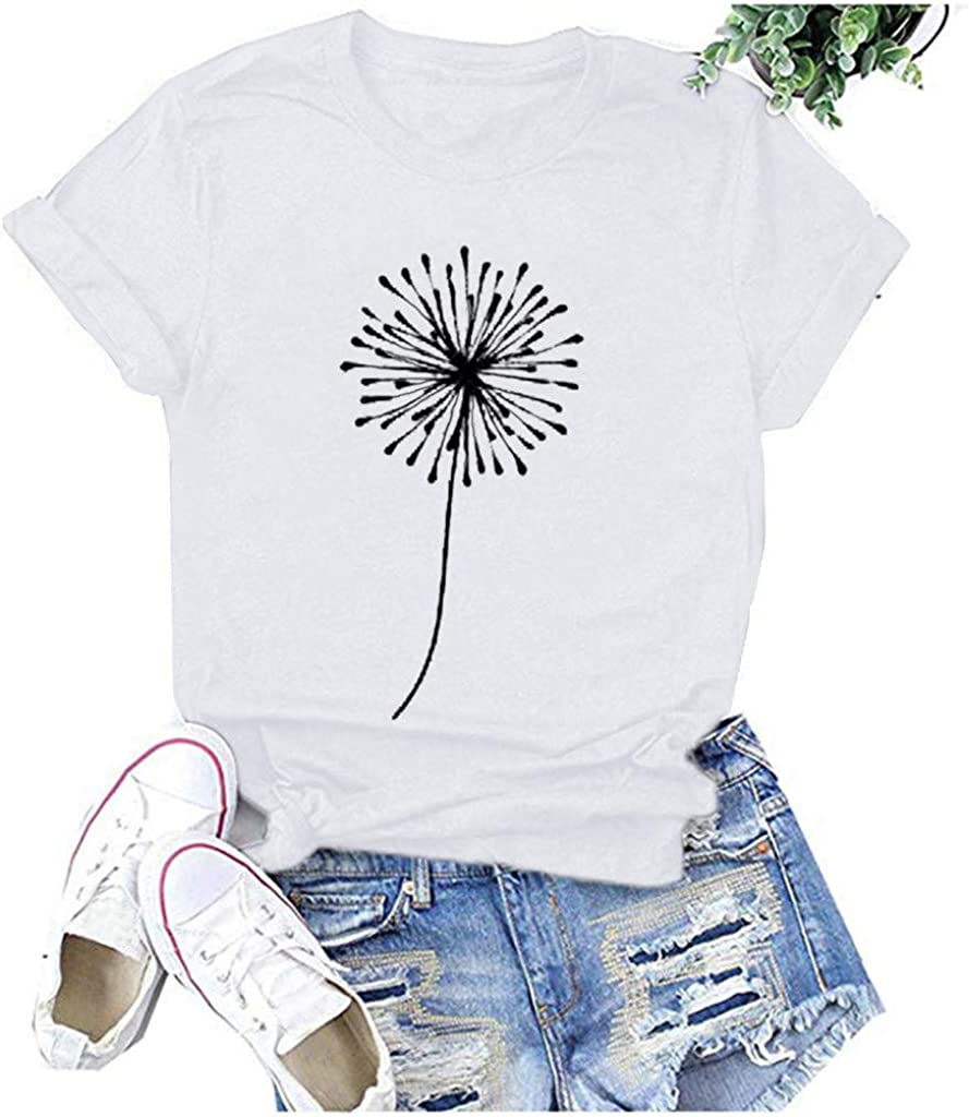 FABIURT Tshirts for Womens, Women's T-Shirts Valentine's Day Graphic Tee Funny Shirts Short Sleeve Plaid Love Print Tops