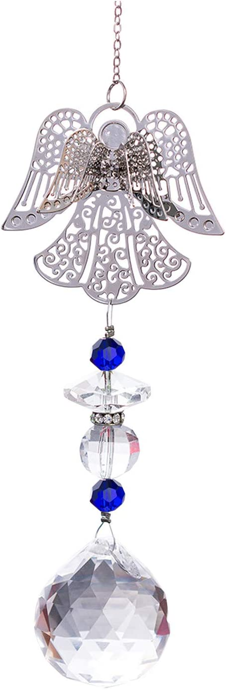 Rickitrty Car Auto Rearview Mirror Crystal Ange Colorful Pendant Mail order OFFicial shop