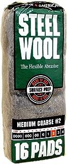 Steel Wool, 16 pad, Medium Coarse Grade #2, Rhodes American, Surface Preparation