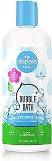 DAPPLE Baby Bubble Bath, Fragrance Free Bubble Bath, Plant Based, Hypoallergenic, 16.9 Fluid Ounces