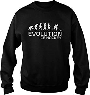Evolution Ice Hockey Sweater Unisex, Gifts Hockey Lovers