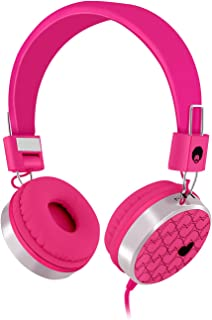 Rockpapa Love Heart On Ear Wired Headphones Foldable, Adjustable Headband with 3.5mm Jack for Kids Children Toddler Teens ...