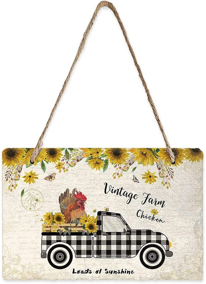Infinidesign Directly managed store price Vintage Farm Welcome Sturdy 7.9x5.1inch Black Sign