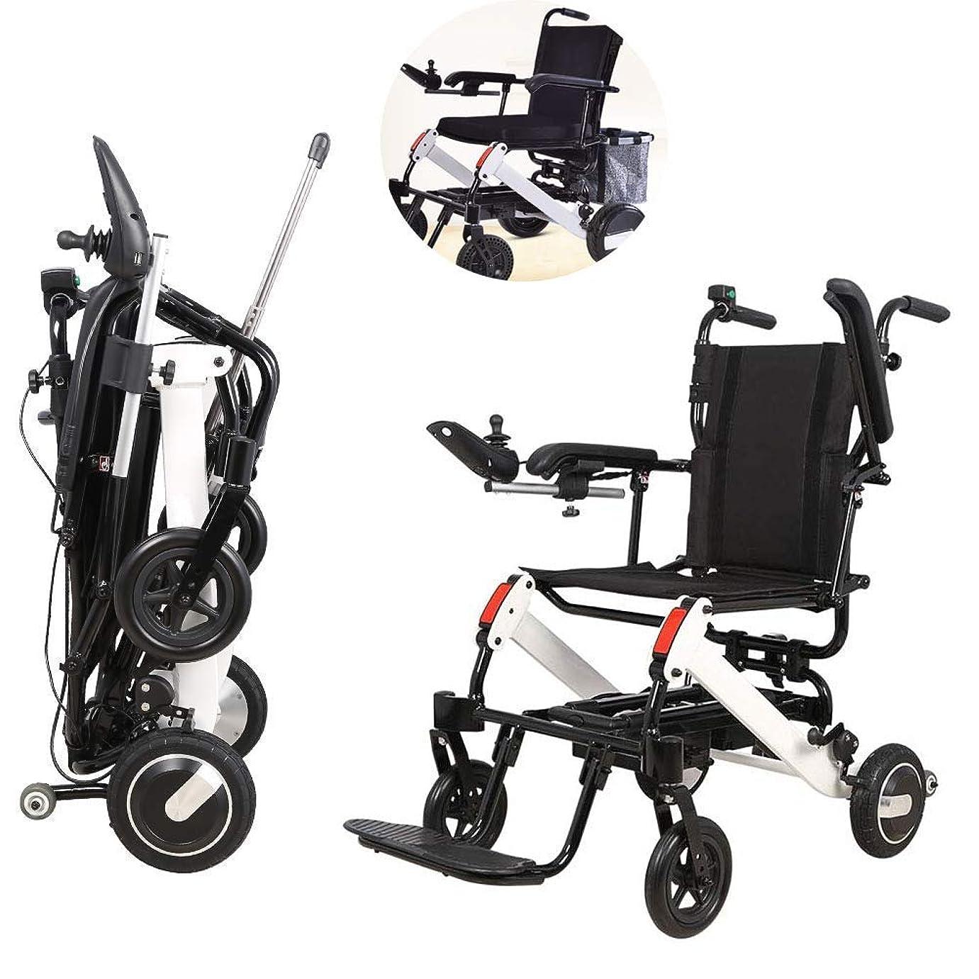 不十分な砂漠最大の電動車椅子、軽量折りたたみ式折りたたみ式高齢者スクーター、買い物カゴ付き、15km走行可能