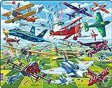 Larsen PG4 Pilotos Valientes en Aviones increíbles, Puzzle de Marco con 64 Piezas
