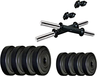 StarX 4 kg Home Gym Exercise Set of PVC Plates with 1 Pair Dumbbell Rods