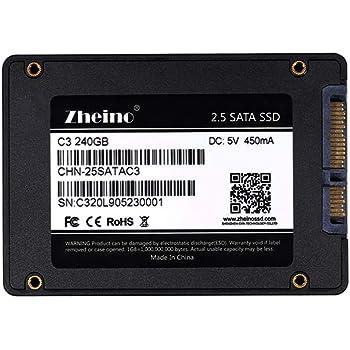 Zheino SATA SSD 240GB 内蔵SSD C3 2.5インチ 7mm厚 3D Nand 採用 SATA3 6Gb/s