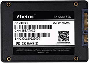 Zheino 240gb SSD C3 2.5 inch Sata III 3D Nand SSD Drive Internal Solid State Drive (7mm) for Notebook Desktop PC