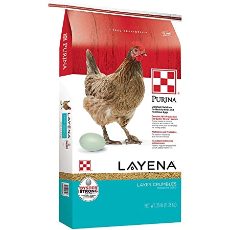 Purina Layena   Nutritionally Complete Layer Hen Feed Crumbles   25 Pound (25 lb) Bag