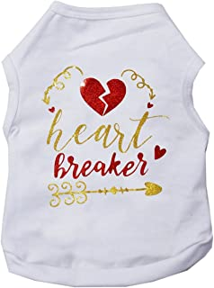 Kirei Sui Valentine's Day Pets Heart Breake Cotton Tee Dogs Clothes