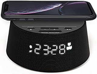 Philips Wecker PR702/12 Digitaler Wecker (Bluetooth, Kabelloses Qi-Ladegerät, Sleep Timer, Weckfunktion, USB-Ladeanschlus...