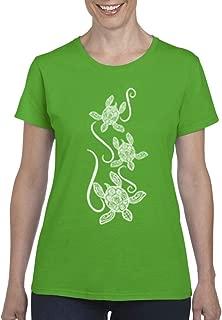 ARTIX Hawaiian Turtle Sea Turtles Womens T-Shirt Tee
