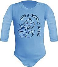 Body bebé unisex Llevo el crossfit en los genes. Regalo original. Body bebé divertido. Bebé deportista. Manga larga.