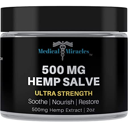 Medical Miracles Hemp 500 Mg Ultra Strength Healing Salve | 100% Natural Cream