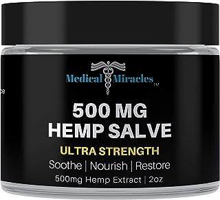 Medical Miracles Hemp 500 Mg Ultra Strength Healing Salve | 100% Natural Cream Relieves Inflammation, Muscl...