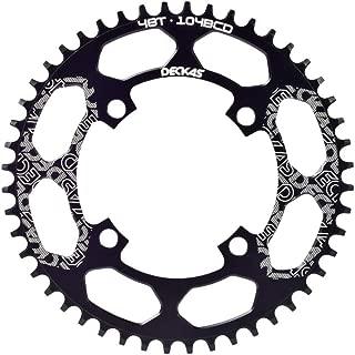 Gymforward BCD 104 Narrow Wide Bike Chainring Mountain Bike Components Single Speed Chainring