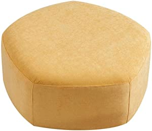 OUG Simple Stool/Fabric Stool,Practical,Removable and Washable, wear-Resistant,Wooden Material, Environmentally Friendly,Suitable for Everyone,Suitable for Bedroom,Living Room,Color Optional,46x30cm