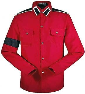 for Cosplay Michael Jackson Professional Shirt MJ Red Black White Costume Retro Fashion CTE Shirt