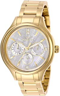 Women's Angel Quartz Watch with Stainless Steel Strap, Gold, 16 (Model: 28654)
