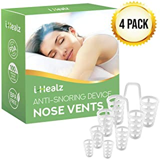 i-Healz Snoring Nose Vents(4 Set) - Anti Snoring Device - Stop Snoring Solution - Snore Stopper