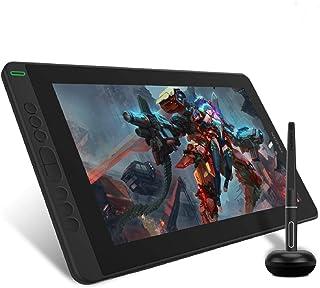 HUION Graphics Drawing Monitor Kamvas 13, 13,3 inch volledig gelamineerd scherm, 8 programmeerbare druktoetsen, ondersteun...