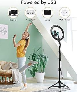 حلقة مصباح LED مع حامل أو مصباح مزود بفلتر من أجل فيديوهات هات اليوتيوب وب 210 سمنتر من شركة ايسرقير