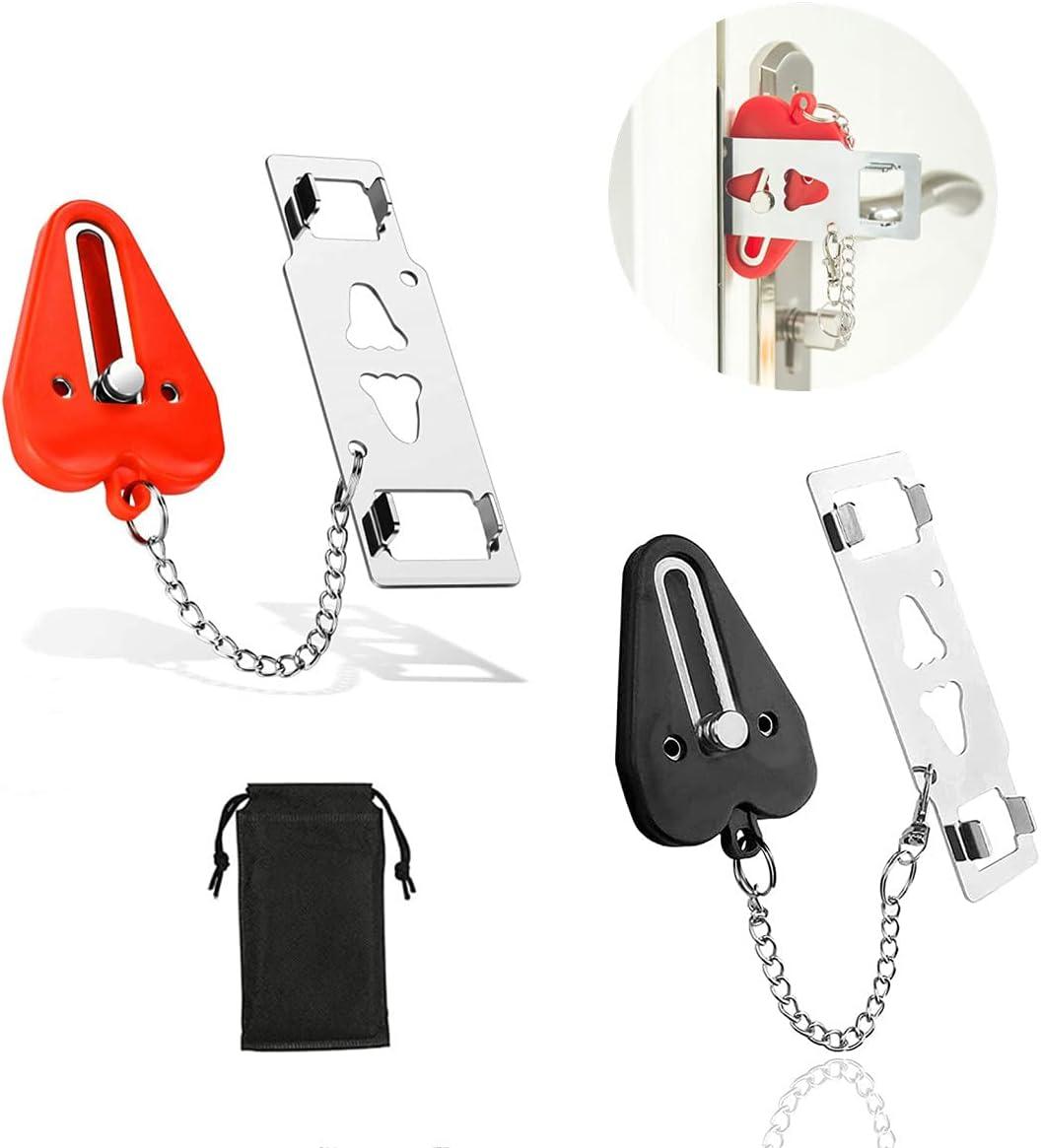 WEGXINNA Portable Door Lock 2 Ext Pack New mail order Financial sales sale Home Security Locker